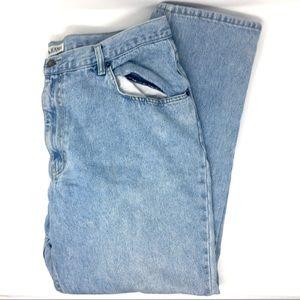 Bugle Boy Straight Leg Light Wash Jeans